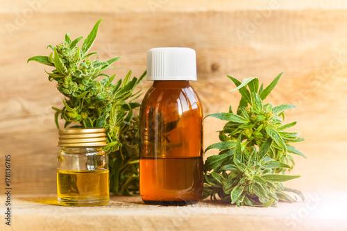 Photo  CBD oil hemp products