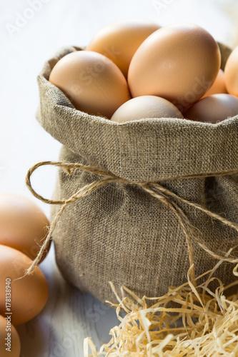 Plakat organiczne jaja kurze