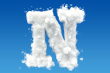 Letter N, Alphabet From Clouds...