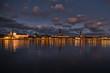 Panorama of Riga in the evening