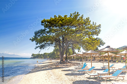 Plakat Plaża w Thasos, grecka wyspa