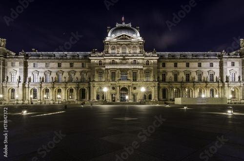Poster de jardin Paris Louvre