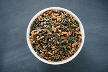 Bowl Of Loose Green Genmaicha ...