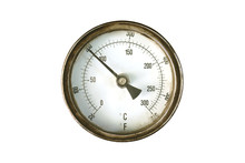 Old Thermometer Gauge Isolated...