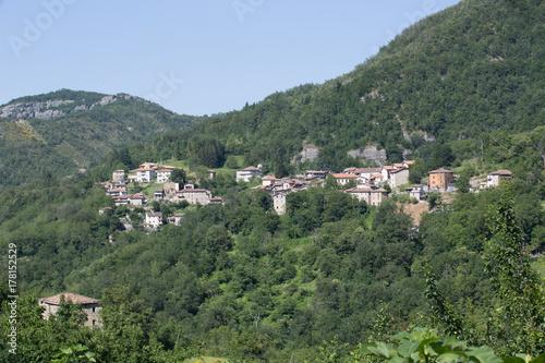 Plakat Paese Pozza, zniszczył domy, trzęsienie ziemi, niedaleko Aquasanta Terme; Zniszczone domy, trzęsienia ziemi, Włochy