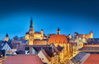 canvas print picture Nürnberg bei nacht