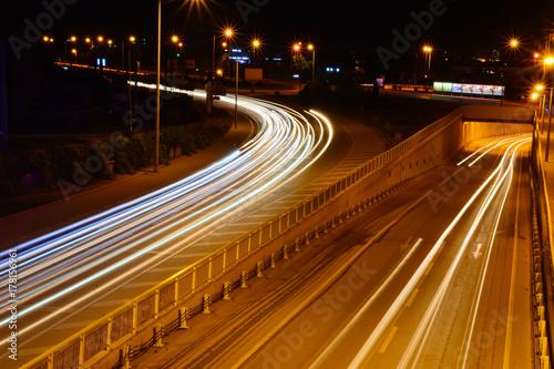 Keuken foto achterwand Nacht snelweg Gecede uzun pozlama