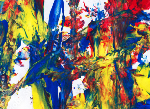 Deurstickers Paradijsvogel abstract art. creative hand painted background, wallpaper, texture.