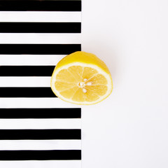 Obraz na SzklePop art. Minimalist art. Fashion Glamorous Citrus mood. Minimal Stillife
