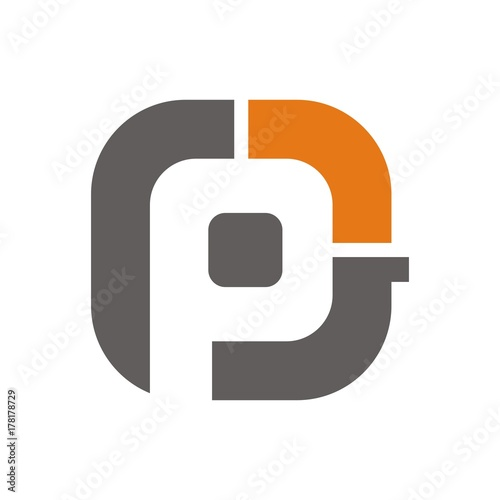 Pg Or Gp Logo Initial Letter Design Template Vector Buy This Stock
