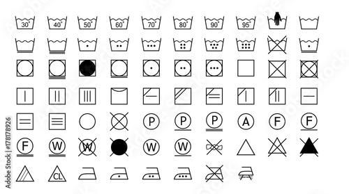 Laundry Symbols, washing instructions - Buy this stock