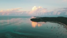 Sunrise Bay In Tropical Island...