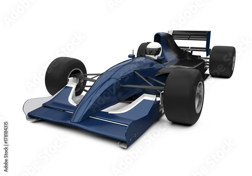 Foto op Canvas F1 Formula One Race Car Isolated