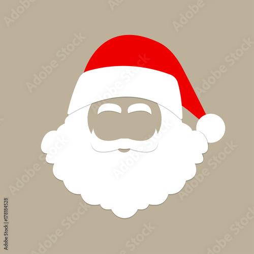 61b50d8a03779 Santa Claus hat and beard. Christmas mask. Vector illustration ...