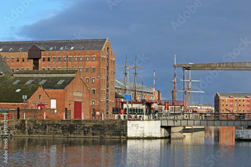 Gloucester Docks, England Canvas Print