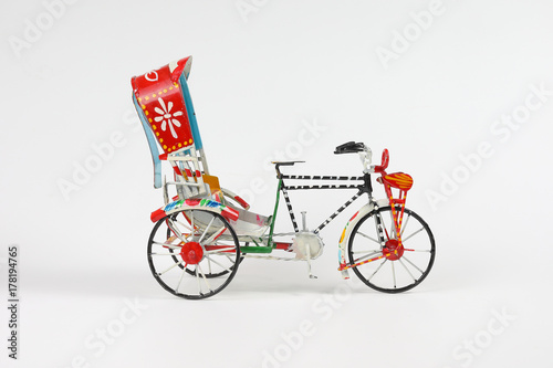 Fotografie, Obraz  Colorful rickshaw toy