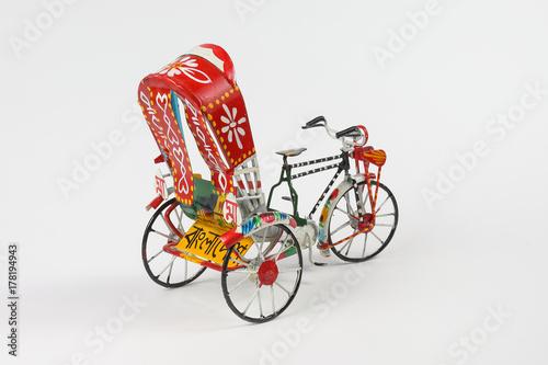 Colorful rickshaw toy Canvas-taulu