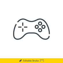 Joystick Icon / Vector - In Li...