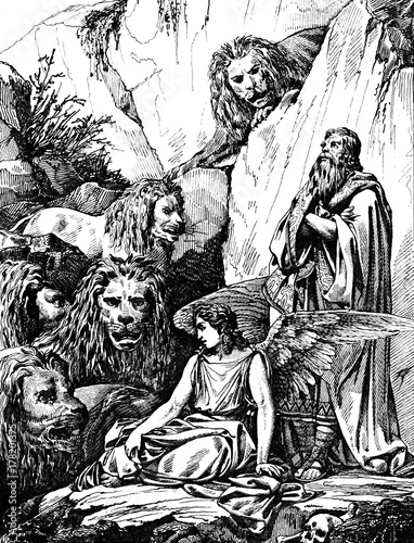 Daniel and the lions. Fotomurales