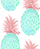 Vector pineapple seamless pattern - 178201946