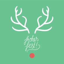 Rudolph Mit Geweih - Frohes Fest