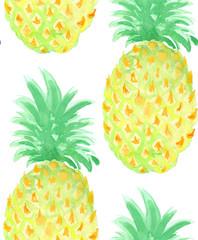 Fototapeta Vector pineapple seamless pattern