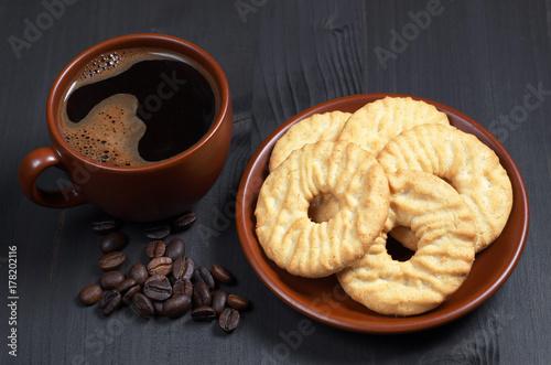 Plakat Kawa i ciasteczka