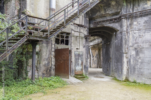 Aluminium Prints Old abandoned buildings rotten architectural scenery
