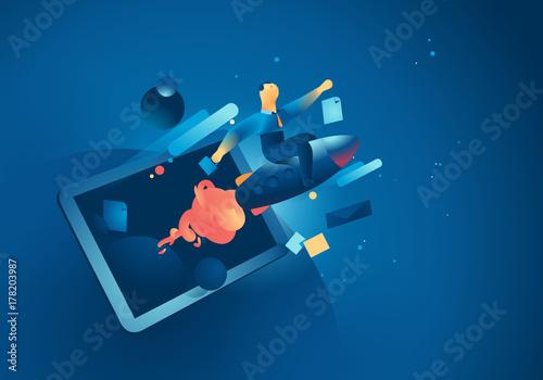 Fotografía  Lancio di una startup digitale