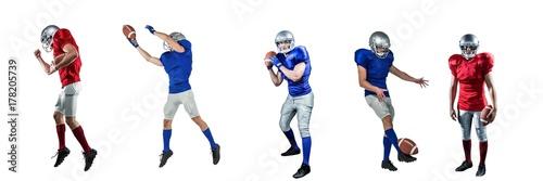Fototapeta american football players wide obraz
