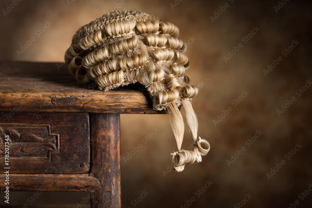 Fototapeta Barrister's wig