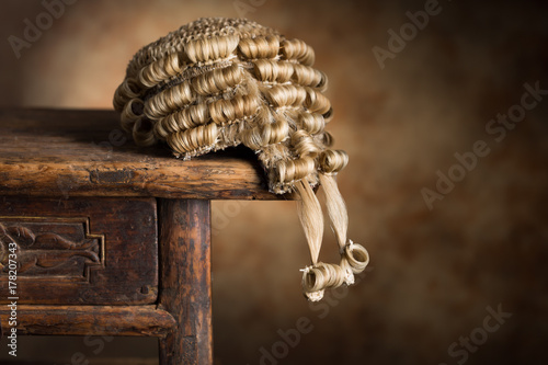 Barrister's wig Canvas Print