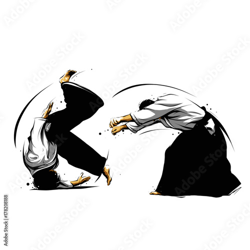 Photo aikido action 2