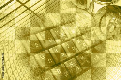 Zdjęcie XXL Cyfry, znaki pocztowe i klawiatura