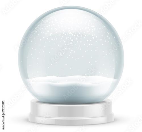Staande foto Bol Boule à neige vectorielle 1