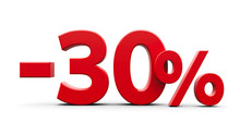 Red Minus Thirty Percent