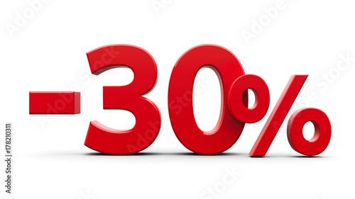 Fotografia  Red minus thirty percent