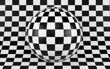 Black And White Checker Backgr...