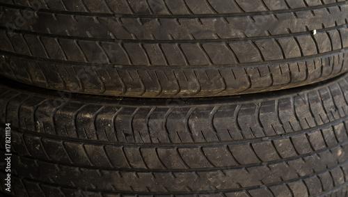 In de dag Fiets dirty old wheel. texture of old tire