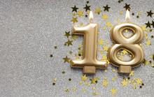 Number 18 Gold Celebration Can...