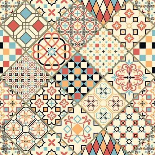 Foto  Vector set of Portuguese tiles