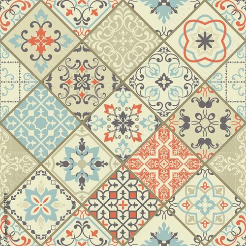Vector set of Portuguese tiles Poster