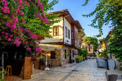 Poster Turquie Pedestrian street in Antalya Old Town, Turkey