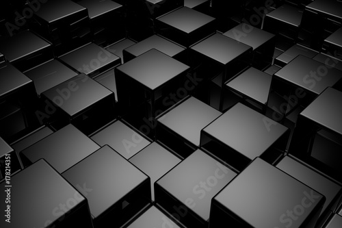 abstrakcjonistyczny-tlo-szesciany-3d-renderi