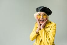 Excited Senior Woman