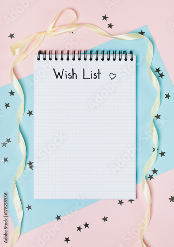 Notepad for wish list Poster