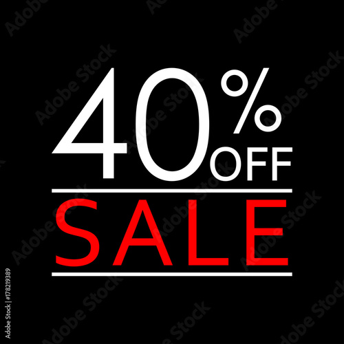 40 off sale and discount price icon sales tag design template