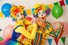 Two Cheerful Clowns. Birthday ...