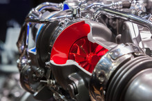 Cut-away View Of A Turbocharger