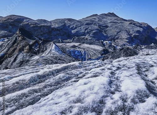 Zdjęcie XXL topnienie lodowiec w lecie Islandii